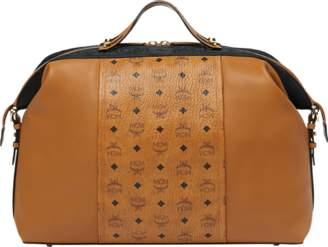 MCM Essential Weekender In Visetos And Leather