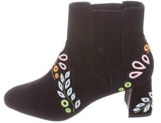 Sophia Webster Suede Ankle Boots Black Suede Ankle Boots