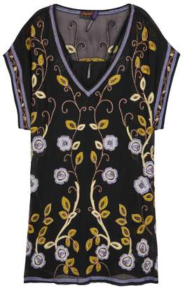 Free People Adelaide Embroidered Chiffon Mini Dress