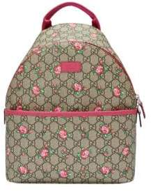 Gucci Kid's GG Rose Bud Backpack