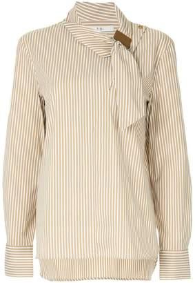 Tibi asymmetric collar shirt