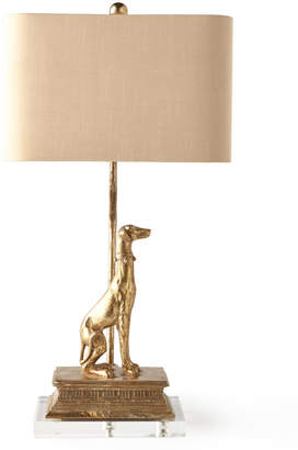 Horchow Left Regal Dog Table Lamp