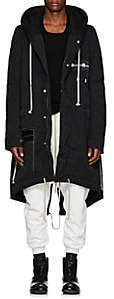 Rick Owens Men's Cotton-Blend Hooded Parka-Black