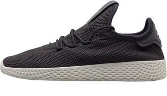 adidas x Pharrell Williams Kids HU Tennis Trainers Carbon/Carbon/Footwear White