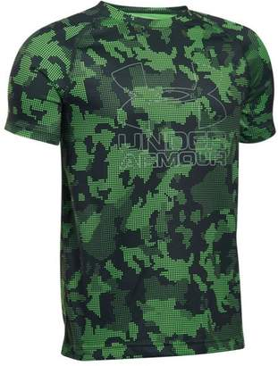 Under Armour Boys' UA Big Logo Hybrid Printed T-Shirt