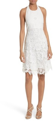 Women's Alice + Olivia Susan Lace Halter Dress $350 thestylecure.com