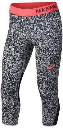 Nike Girls' Pro Printed Capri Leggings - Big Kid