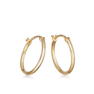 Astley Clarke Medium Stilla Gold Hoop Earrings