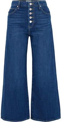 Eve Denim Charlotte Cropped High-rise Wide-leg Jeans - Mid denim