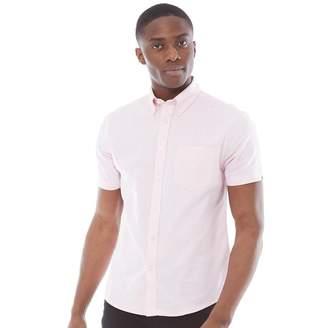 Ben Sherman Short Sleeve Oxford Shirt Pink