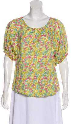 Steven Alan Floral Short Sleeve Blouse