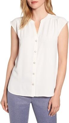 6ca94724f Anne Klein Sleeveless Button-Up Blouse