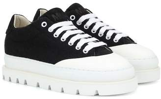 MM6 MAISON MARGIELA Wool and leather sneakers