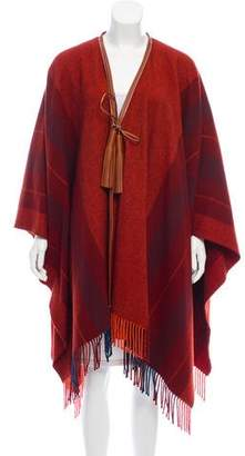 Hermes Wool Knit Poncho