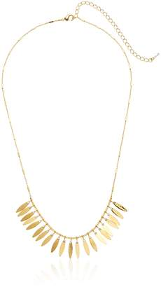 Sorrelli Lisa Oswald Collection Fanned Petal Necklace with Crystal Necklace