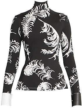 Loewe Women's Leather Cuff Turtleneck