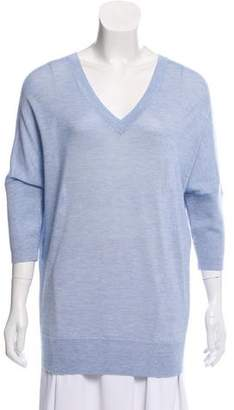 Derek Lam Cashmere & Silk-Blend Three-Quarter Sleeve Sweater