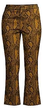 Joie Women's Marcena Python Print Crop Trousers - Size 0