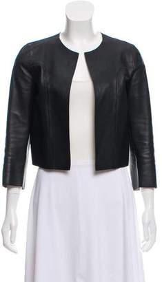 Marni Leather Open Front Jacket