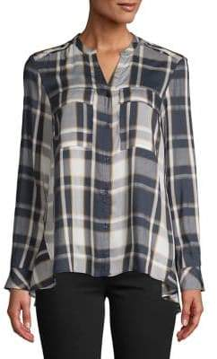 Jones New York Plaid Button-Down Shirt