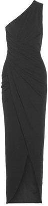 Michael Kors Collection - One-shoulder Draped Stretch-jersey Gown - Black $1,995 thestylecure.com