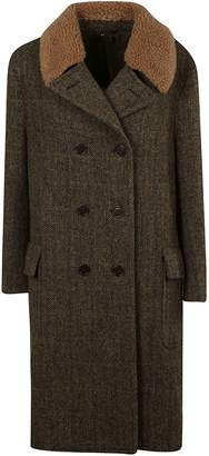 Aspesi Fur Collar Coat