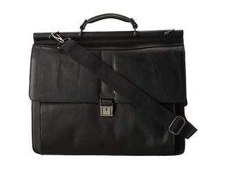 Kenneth Cole Reaction Columbian Leather - 5.38 Double Gusset Dowel Rod Portfolio Computer Bags
