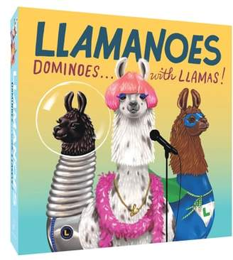 Chronicle Books Llamanoes Dominoes Game