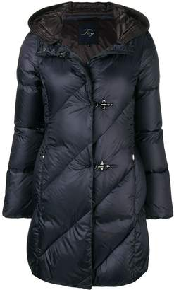 Fay toggle quilted coat