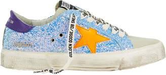 9ea0e0f50b40 Golden Goose May Orange Star Glitter Low-Top Sneakers