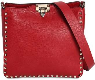 Valentino Rockstud Leather Hobo Bag
