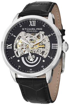 Stuhrling Original Sthrling Original Mens Black Dial Skeleton Automatic Watch