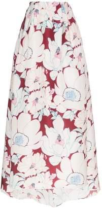 Carolina Herrera floral print gown skirt