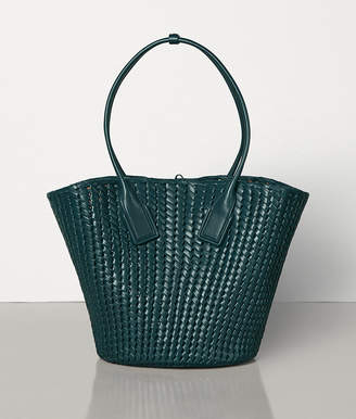 Bottega Veneta MEDIUM BASKET TOTE IN INTRECCIO RETE