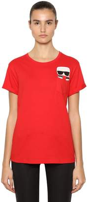Karl Lagerfeld Ikonik Pocket Cotton Jersey T-Shirt