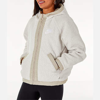 Nike Women's Sportswear Reversible Sherpa Full-Zip Jacket
