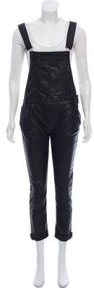 Black Orchid Faux-Leather Sleeveless Jumpsuit