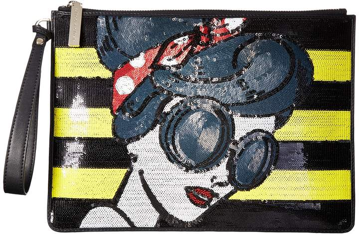 Alice + Olivia - Stace Face Large Zip Pouch with Wristlet Wristlet Handbags