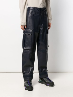 Acne Studios Leather cargo trousers