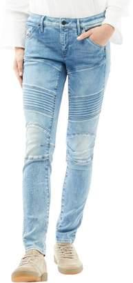 G Star G-STAR Womens 5620 Custom Mid Skinny Jeans Medium Aged 70's