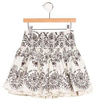 CatiminiCatimini Girls' Floral Print Flare Skirt