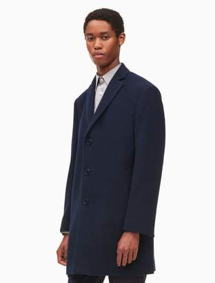 Calvin Klein wool blend navy topcoat