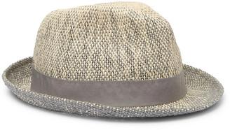Paul Smith Grosgrain-Trimmed Melange Straw Trilby Hat - Men - Neutrals