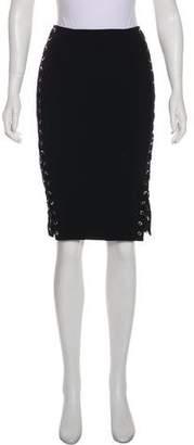 Altuzarra Lace-Up Knee-Length Skirt