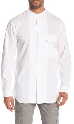 Theory Stand Collar Button Shirt