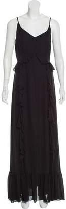 L'Agence Sleeveless Silk Maxi Dress