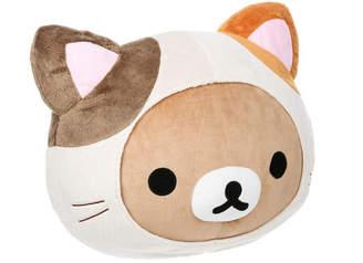 Rilakkuma Aliquantum International Inc Cat Head Pillow