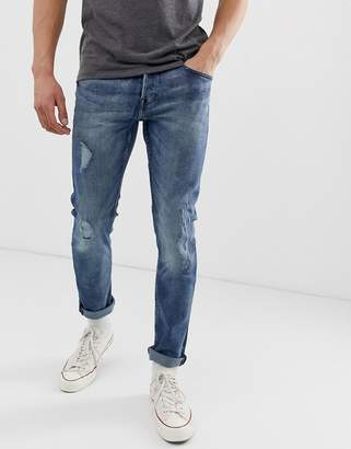 ONLY & SONS ripped jeans in blue