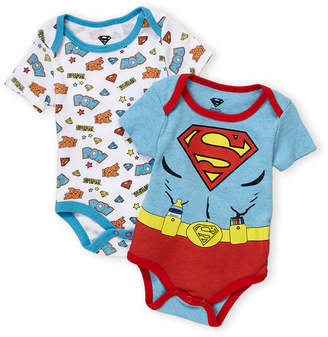 DC Newborn Boys) Two-Piece Superman Bodysuits
