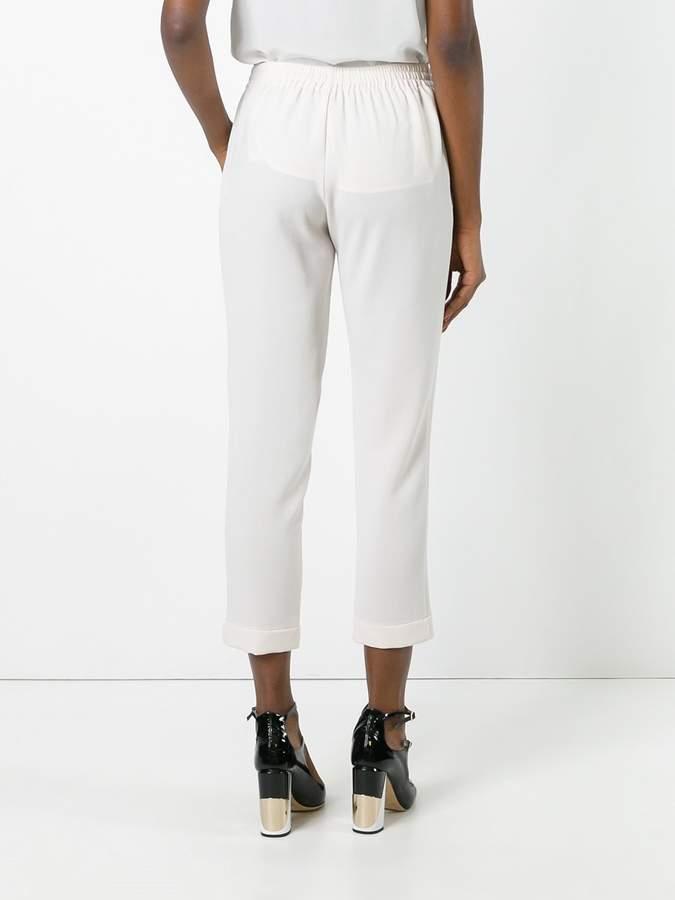 Steffen Schraut elasticated waistband cropped trousers